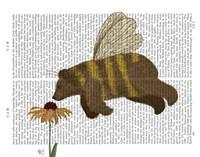 Bear Bee Book Print Fine-Art Print