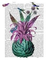 Tropical Artichoke Book Print Fine-Art Print