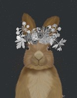 Rabbit, White Flowers Fine-Art Print
