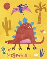 Skating Stegosaurus Fine-Art Print