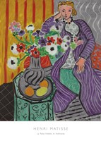 La Robe Violette et Anemones Fine-Art Print