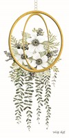 Gold Geometric Circle & Ivy Fine-Art Print