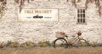 Fall Market with Bike Fine-Art Print