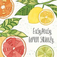 Citrus Splash III Black Text Fine-Art Print