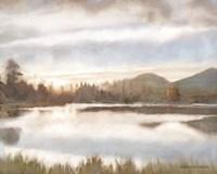Lakeview Sunset Landscape Fine-Art Print