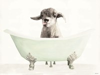 Vintage Tub with Goat Fine-Art Print