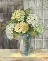 Yellow Hydrangea Gray Fine-Art Print