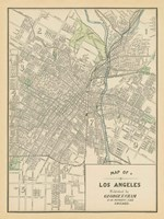 Map of Los Angeles Fine-Art Print