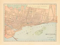 Map of Montreal Fine-Art Print