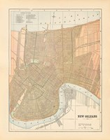 Map of New Orleans Fine-Art Print