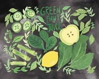 Fruitie Smoothie III on Black Fine-Art Print
