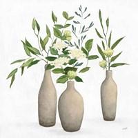 Natural Bouquet I White Fine-Art Print