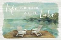 Lakeside Retreat I Fine-Art Print