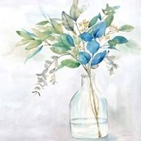 Eucalyptus Vase Navy I Fine-Art Print