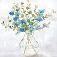 Eucalyptus Vase Navy II Fine-Art Print