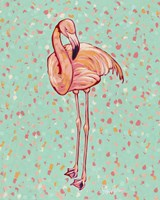 Flamingo Portrait I Fine-Art Print