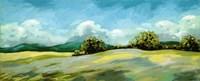 Lavender Breeze Panel Green Fine-Art Print
