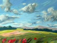 Scarlet Meadow Green Fine-Art Print