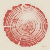 Tree Trunk peach on cream Fine-Art Print