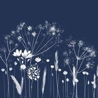 Indigo Flowers I Fine-Art Print