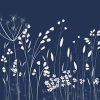 Indigo Flowers II Fine-Art Print