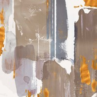 Icescape Abstract Grey Gold I Fine-Art Print