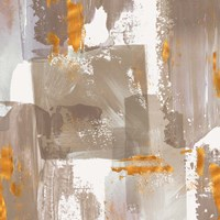 Icescape Abstract Grey Gold II Fine-Art Print