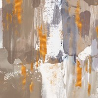 Icescape Abstract Grey Gold III Fine-Art Print