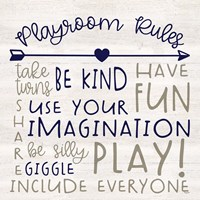 Playroom Rules III Fine-Art Print