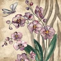 Boho Orchid & Dragonfly II Fine-Art Print