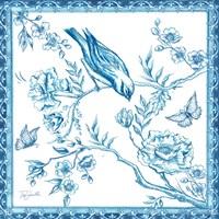 Chinoiserie Tile I Fine-Art Print