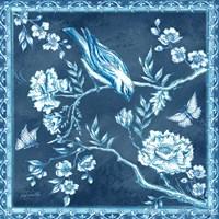 Chinoiserie Tile Blue I Fine-Art Print