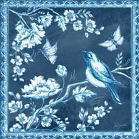 Chinoiserie Tile Blue II Fine-Art Print