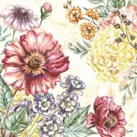 Wildflower Medley Square I Fine-Art Print