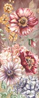Wildflower Medley Panel Gold I Fine-Art Print