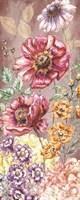 Wildflower Medley Panel Gold II Fine-Art Print