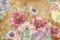 Wildflower Medley Landscape on Rust Fine-Art Print