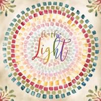 Mosaic Rainbow Round I Fine-Art Print