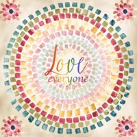 Mosaic Rainbow Round II Fine-Art Print