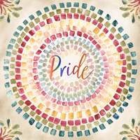 Mosaic Rainbow Round IV Fine-Art Print