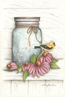 Goldfinch and Flowers Fine-Art Print