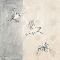 Sparrows Alighting Fine-Art Print