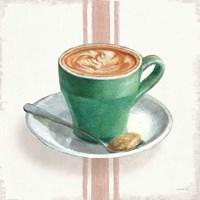 Wake Me Up Coffee II with Stripes Fine-Art Print