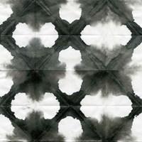 Aquarelle Black and White Square XIII Fine-Art Print