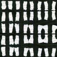 Aquarelle Black and White Square XII Fine-Art Print