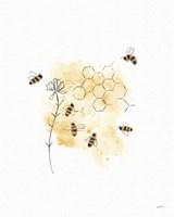 Bees and Botanicals VI Fine-Art Print