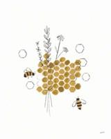 Bees and Botanicals IV Fine-Art Print