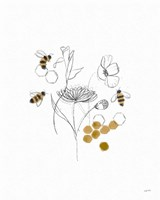 Bees and Botanicals V Fine-Art Print