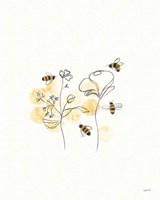 Bees and Botanicals III Fine-Art Print