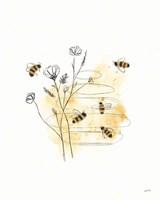 Bees and Botanicals I Fine-Art Print